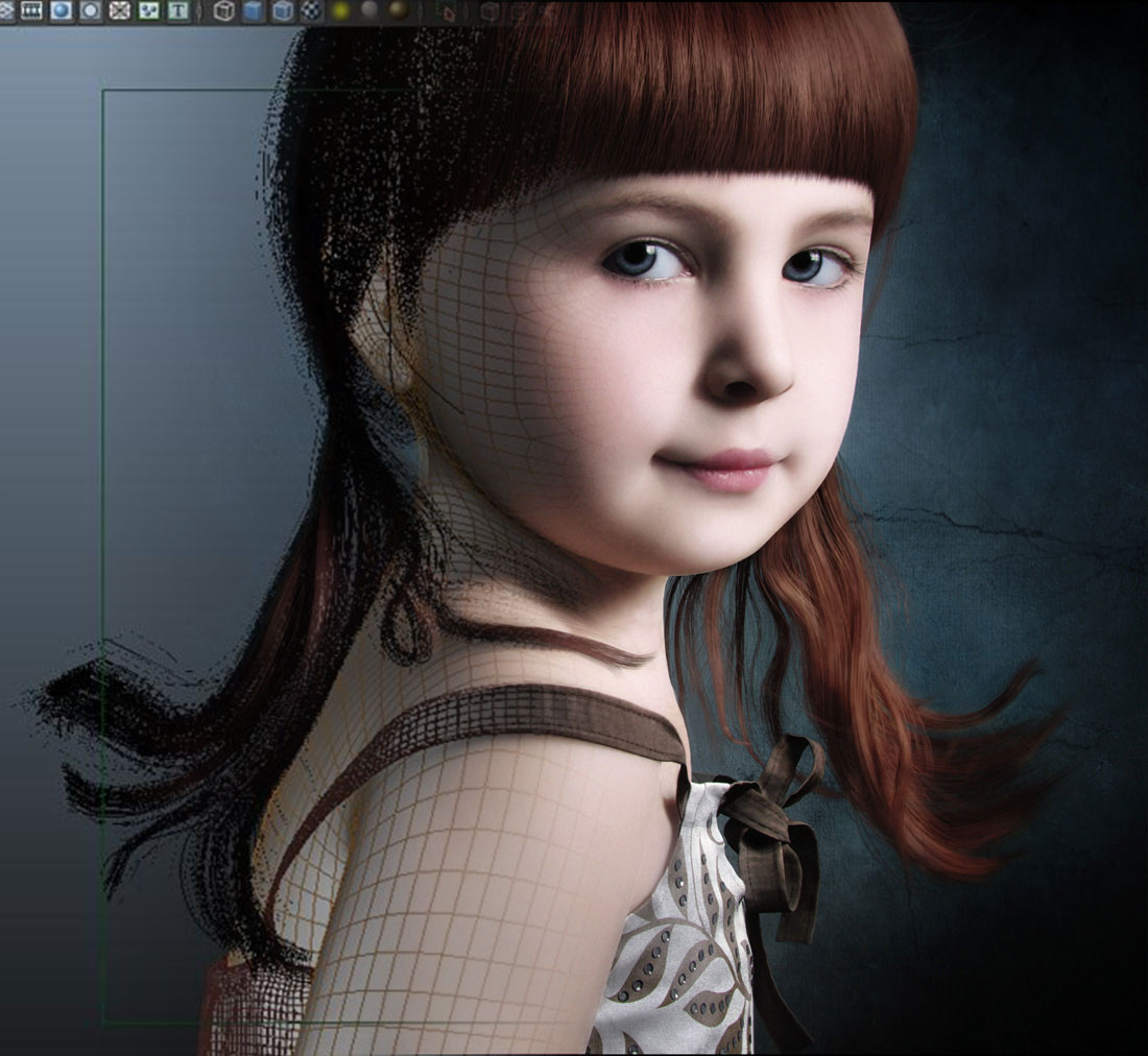 3D Visualize Award winner Character - Bonnny Girl