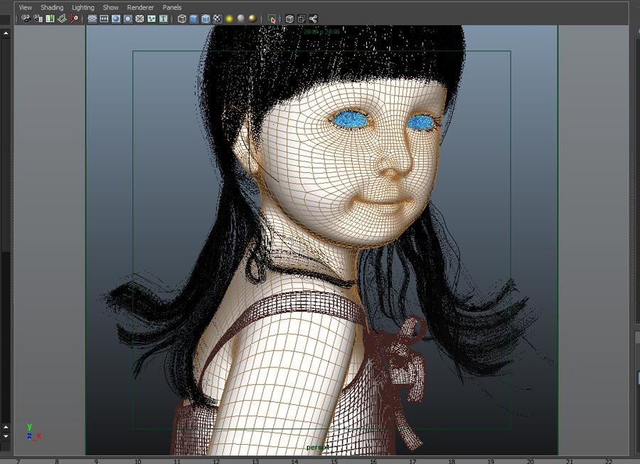 3D Visualize Award winner Character - Bonnny Girl By Peyman Mokaram